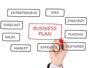 תכנית עסקית כתובה על לוח